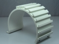 White Fabricated Awning Clamp