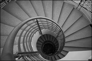 Spiral stairs and platforms